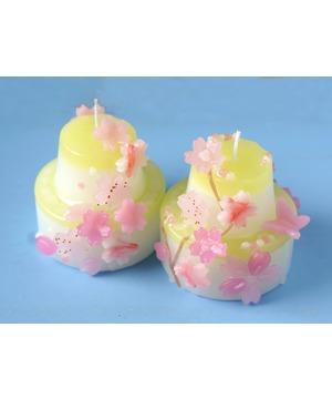 ゴールデンウィーク・IHPCものづくりワークショップ「さくらが舞う 2段ケーキ型キャンドルづくり」