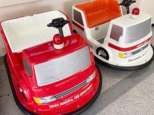 「ミニミニ消防車(バッテリーカー)に乗ろう